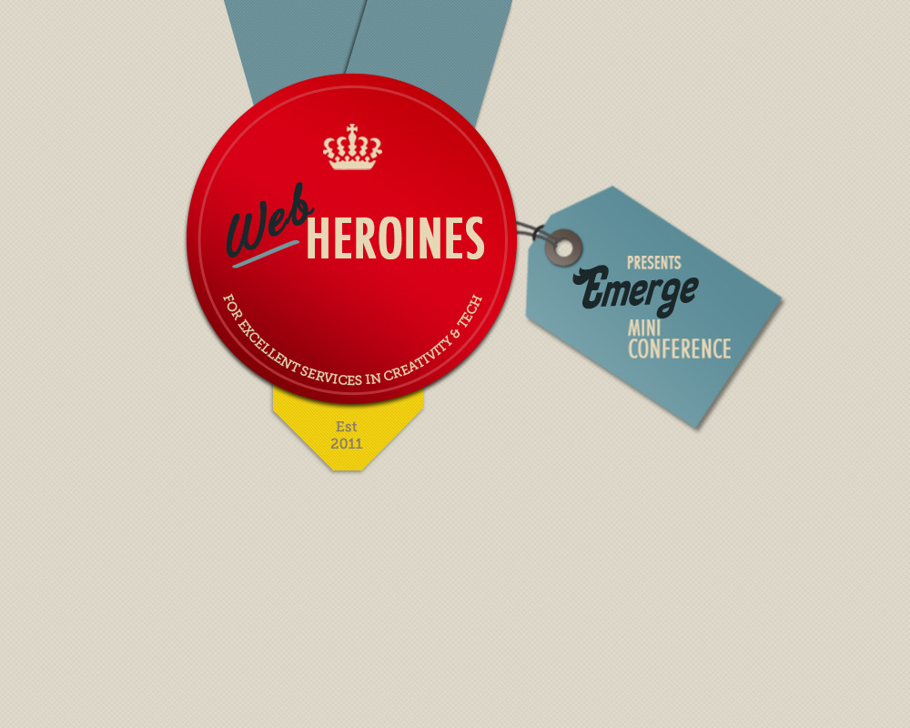 Web Heroines Emerge Conference logo